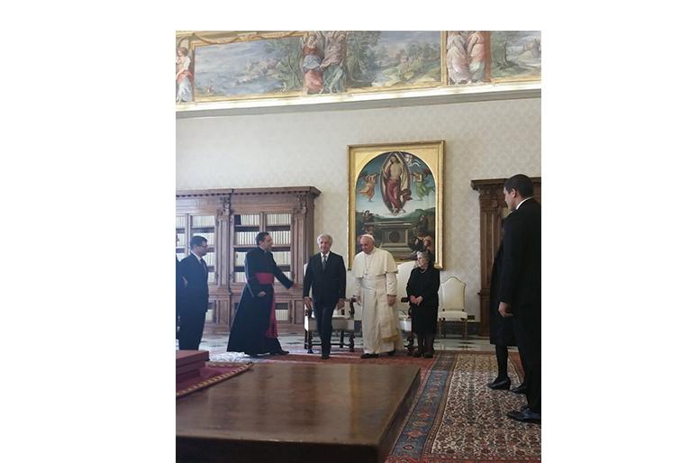 Presidente Vázquez Fue Recibido Este Viernes Por El Papa Francisco En El Vaticano