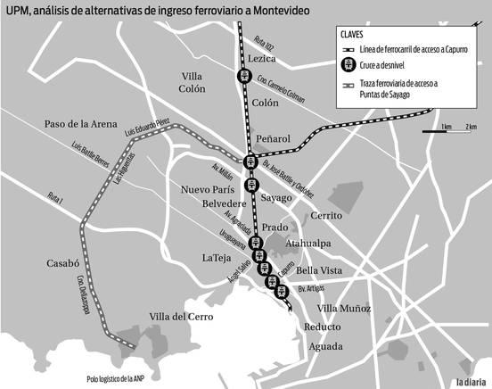 La Instalación De Un Tren Subterráneo En Montevideo Se Maneja Como Alternativa Para La Salida De La Producción De UPM