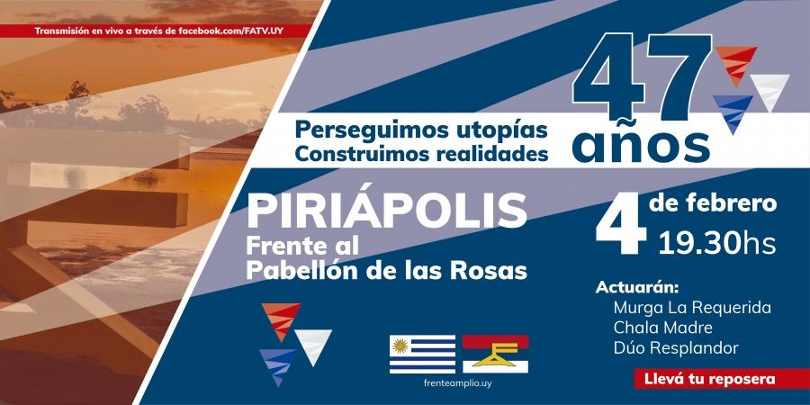 Juntos Festejamos El 47º Aniversario Del Frente Amplio #47FA