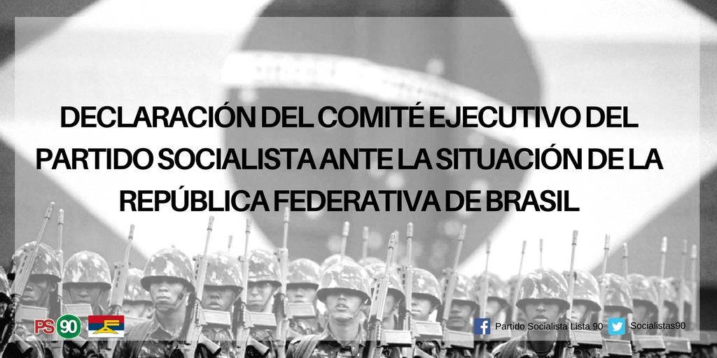 Declaración Del CEN Sobre La Situación En Brasil.