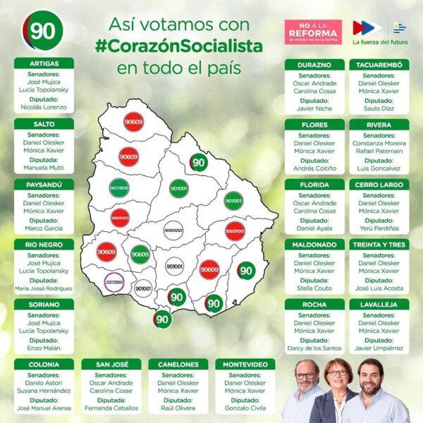 Así Votamos Con #CorazónSocialista En Todo El País