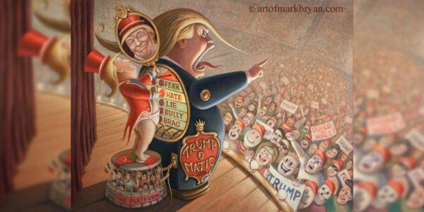 Dibujo de Mark Bryan: Trump-o-Matic